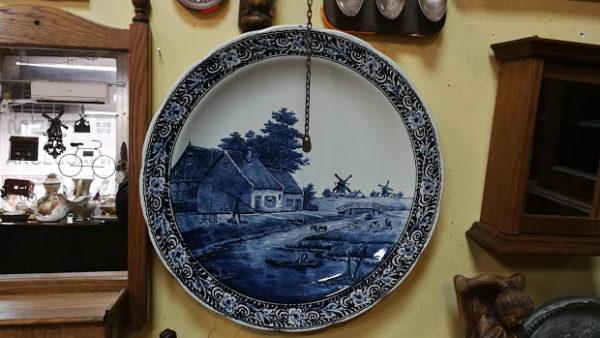 Голяма чиния за стена ,Delft'