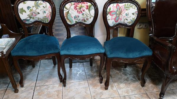 Напълно рестраврирани трапезни столове в стил Луи 15