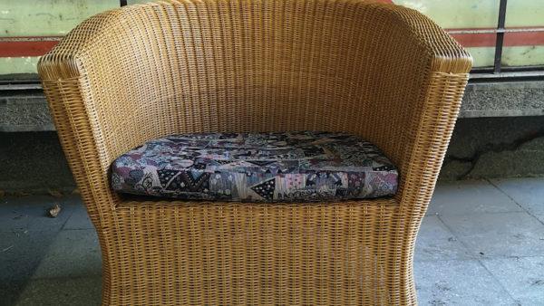 Кресло от естествен бамбук и ратан