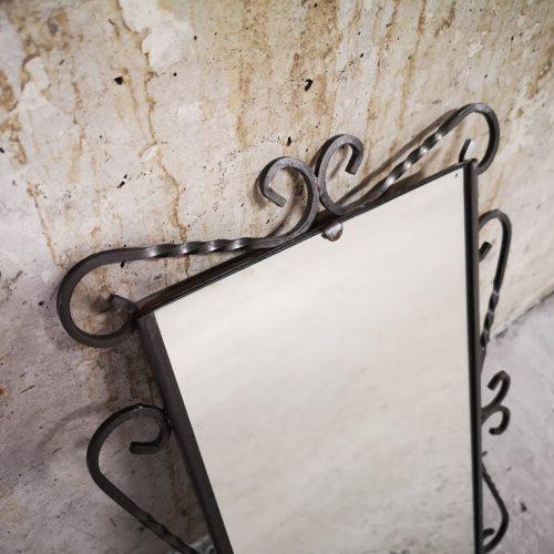 Ogledalo za stena ot kovano zhelyazo-2