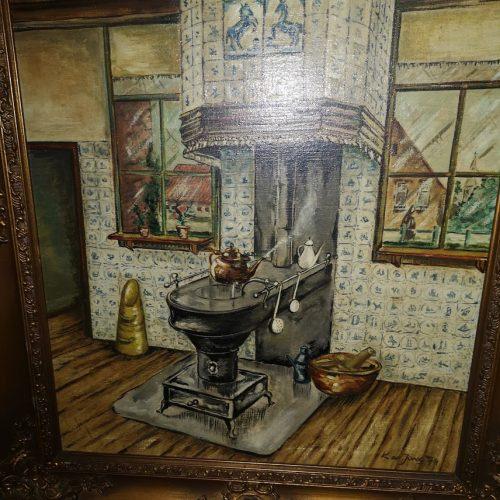 Kartina masleni boi varhu platno,ramka Barok-2