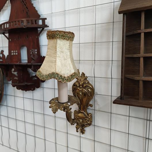Noshtna lampa za stena ot mesing-1