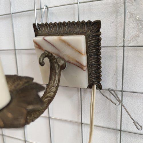 Noshtna lampa za stena ot mesing i oniks-2