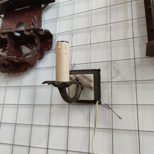 Noshtna lampa za stena ot mesing i oniks-4